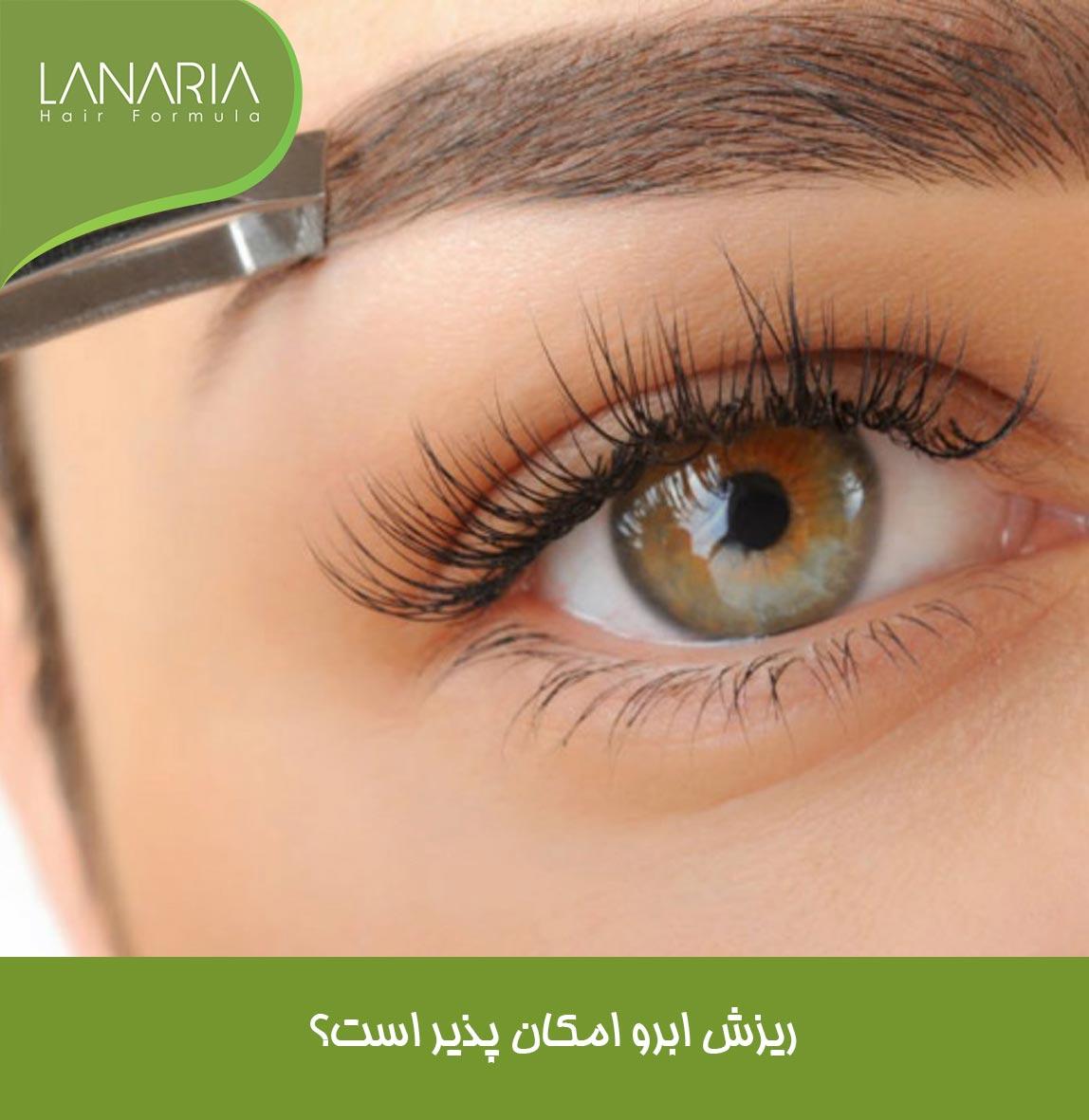 درمان ریزش ابرو -کرم ابرو لاناریا-lanaria - دکتر نوروزیان
